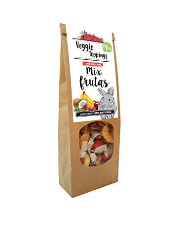 Veggie Toppings Food Supplement Rabbits, Guinea Pigs, Chinchillas And Small Rodents–Mix Fruit 125Gr