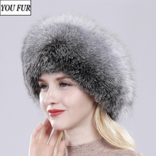 2020 Luxury Winter 100% Natural Real Fox Fur Hat Women Outdoor Quality Real Fox