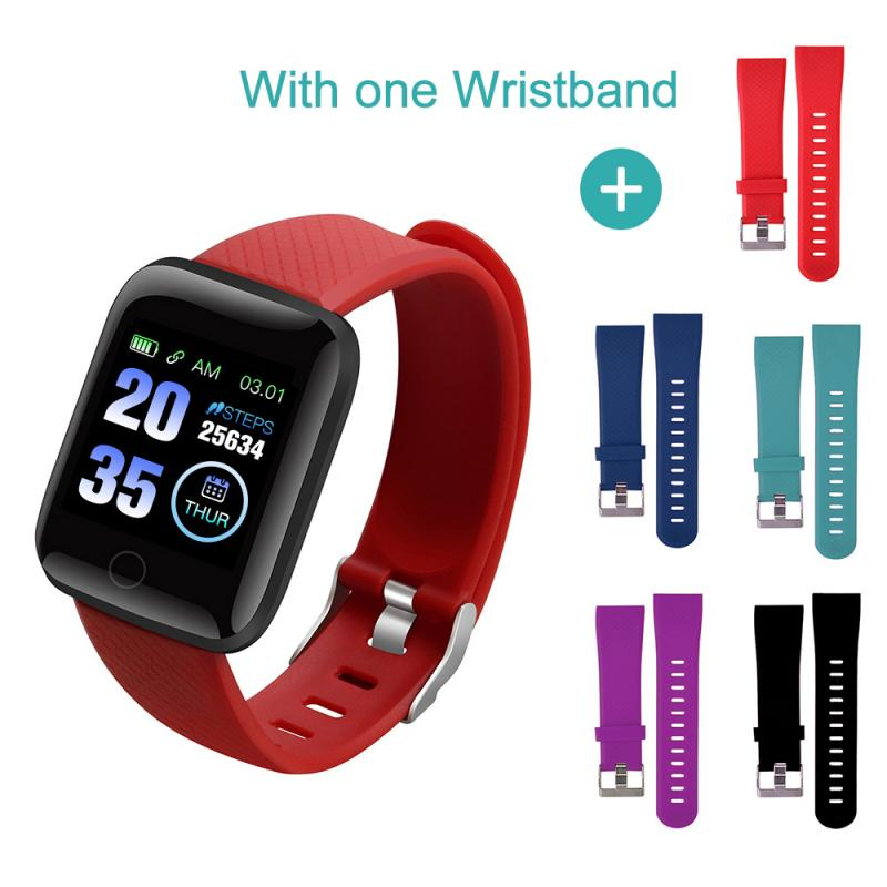 1pc Silicone Wirst Bracelet Strap For 116 Plus Smart Bracelet Accessories Sport  Wristband Replacement Watch Band Strap
