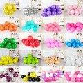 10/20 штук 12 дюймов матовый воздушных шаров из латекса розового и белого цвета с утолщенным круглым Baby Shower клипсы для воздушных шаров, Декор Де...