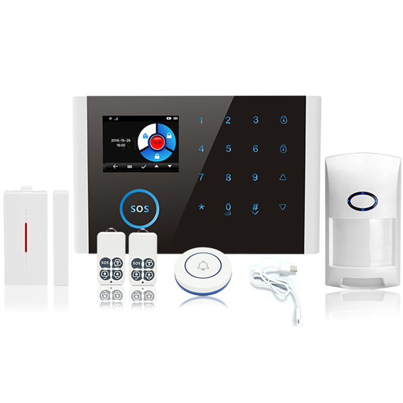 Güvenlik ve Koruma'ten Sensör ve Dedektör'de Kablosuz Gsm Sms Wifi akıllı ev ev ofis güvenlik hırsız alarmı sistemleri kiti (Set 1) title=