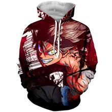 цена на New WSFC 2019 for sale Black Clover Anime 3D Print Hoodie  Hoodies stranger things jacket футболка мужская толстовка hoodie