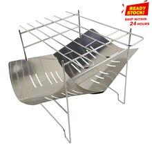 Новый Портативный складной барбекю плита костра стеллаж для