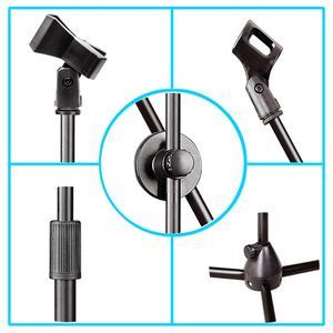 Image 4 - MS 017 Flessibile Microfono Fase Del Basamento Del Treppiedi Del Pavimento Del Basamento Del Microfono della Radio Microfono Stand