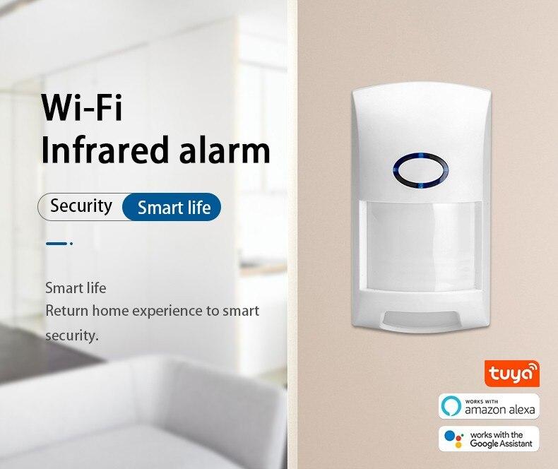Smart Wifi Tuya APP PIR Motion Sensor with Intllegent Human Body Movement Recognitin & Wide Range PET Proof Infrared Detector