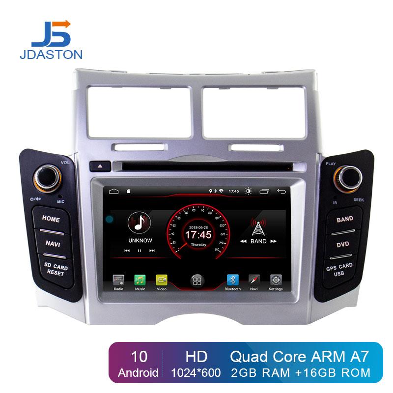 JDASTON Android 10 Auto DVD Player Für Toyota Yaris 2005-2011 GPS Navigation 2 Din Autoradio Stereo Multimedia WIFI Autoaudio SD
