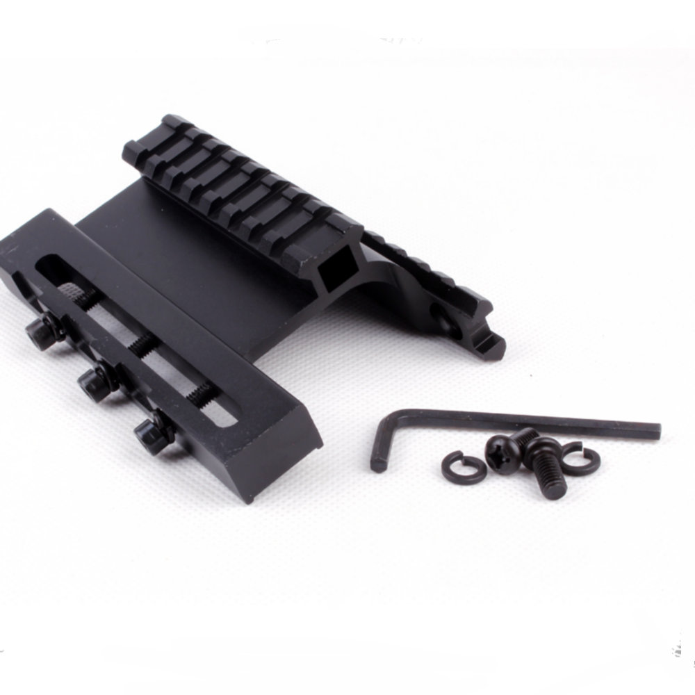 Tactical AK Series Gen 3 AK Double Weaver Picatinny Rail Side Mount System For AK74U Fit|Scope Mounts & Accessories|Sports & Entertainment - title=