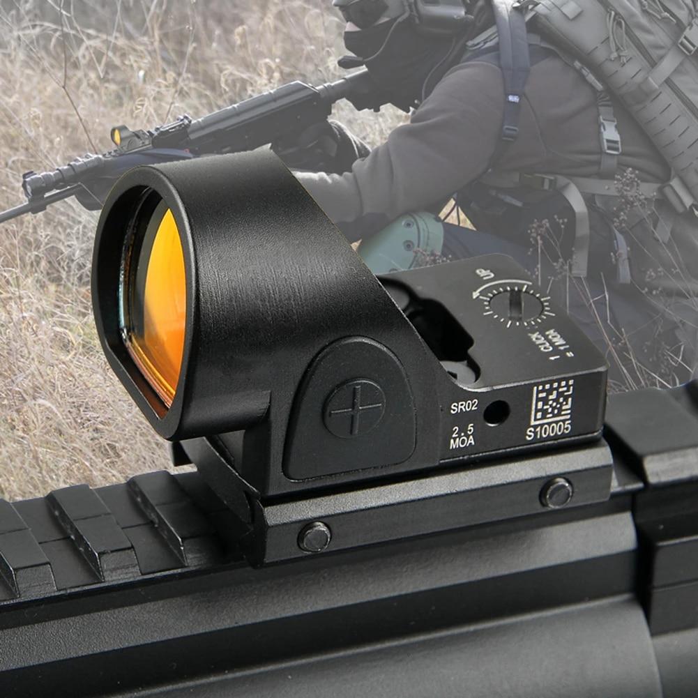 Hunting 5MOA Red Dot Sight Scope Reflex w// 11mm-20mm Weaver Mount Picatinny Rail