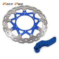 Motorcycle 320mm Front Floating Brake Disc Rotor & Bracket For Yamaha YZ WR 125 250 WRF YZF 250 400 WR456F YZ426F WR450F YZ450F