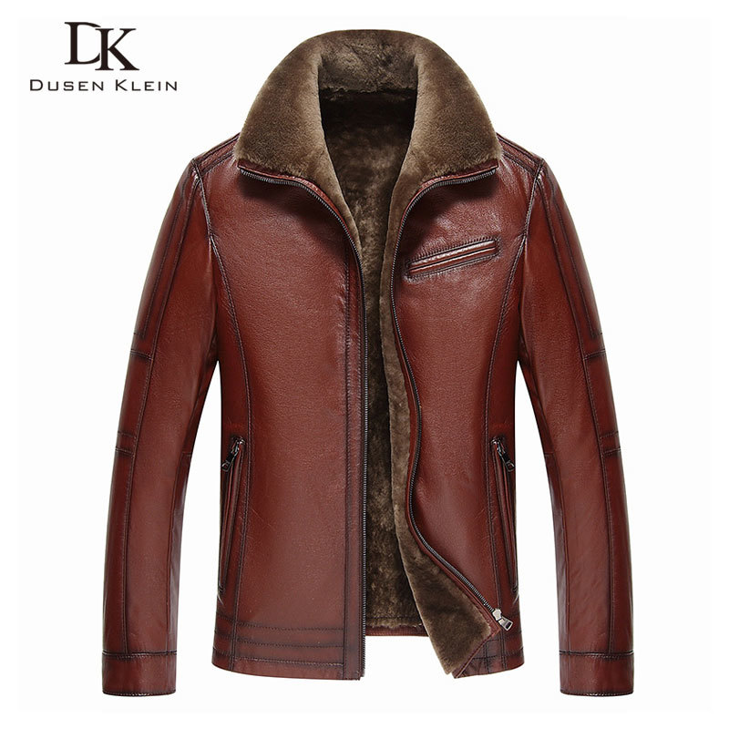 Men Real Leather Jackets Brand 2020 New Men Wool Liner Winter Warm Coats Luxury Male Cow Leather Outerwear 178101