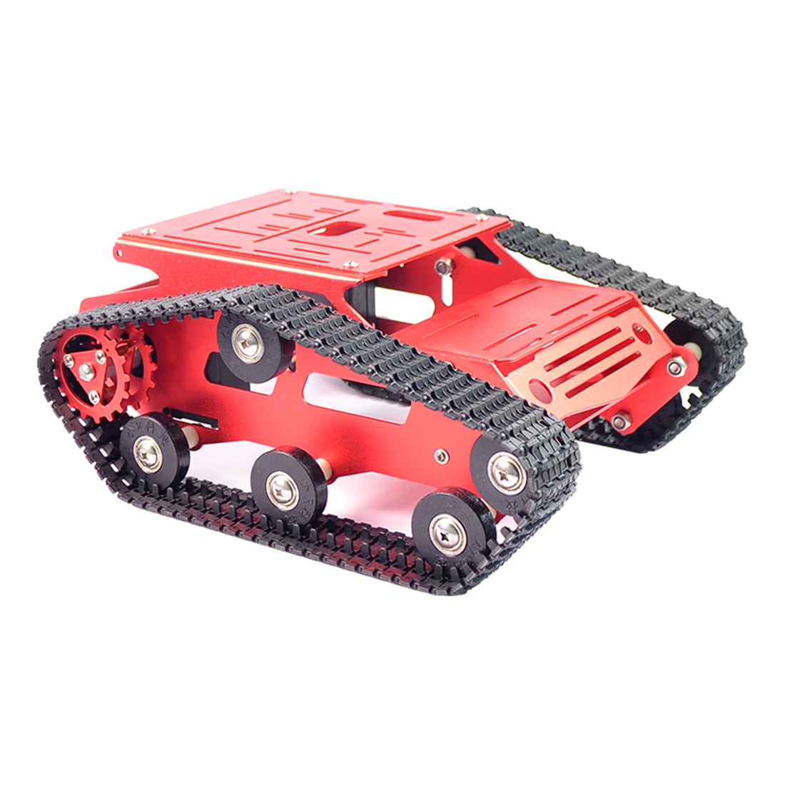 Surwish DIY Smart Robot Tank Crawler Chassis Car Frame Kit Programmable Toys For Kids Adults Christmas Gifts 2019 - Black Green