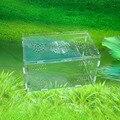 Gaiola de acrílico hamster grande, ninho de porco da guiné, gaiola de cristal para uma vila hamster