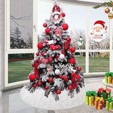 1 шт. белая юбка на рождественскую елку, снежинка, плюшевый меховой ковер, украшения на рождественскую елку, напольный коврик, украшение для ...