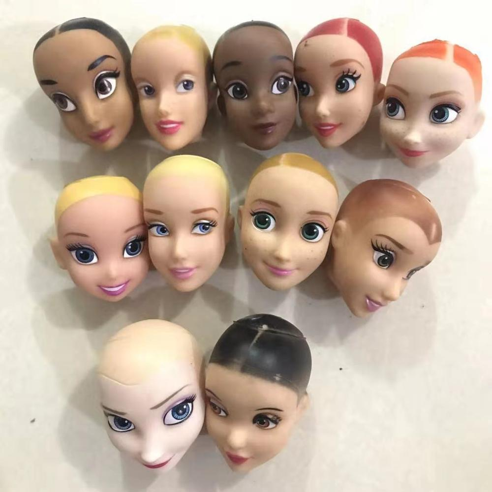 Special Offer New Brand Original Heads For Disney Handicraft Material Original Doll Head Fittings Hairless Diy Whitesnow Princes