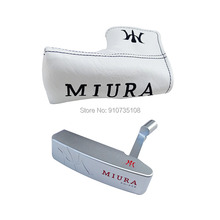 Golf heads soft iron forging MIURA KM-009 Golf Putter Haed silver Golf Club head and Golf headcover No Clubs shaft Free shipping