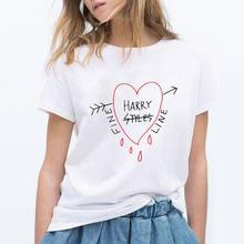Harry Styles Fine Line Korean T Shirt Women Fashion Tops Shirts Short Sleeve Round Nack T-Shirts Leisure Top Tee Casual Ladies