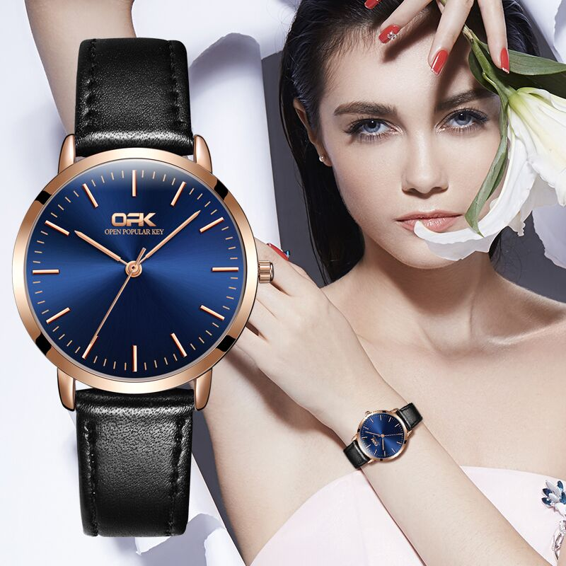 OPK Women Watches Top Brand Luxury Fashion Female Quartz Wrist Watch Ladies Leather Waterproof Clock Girl Relogio Feminino