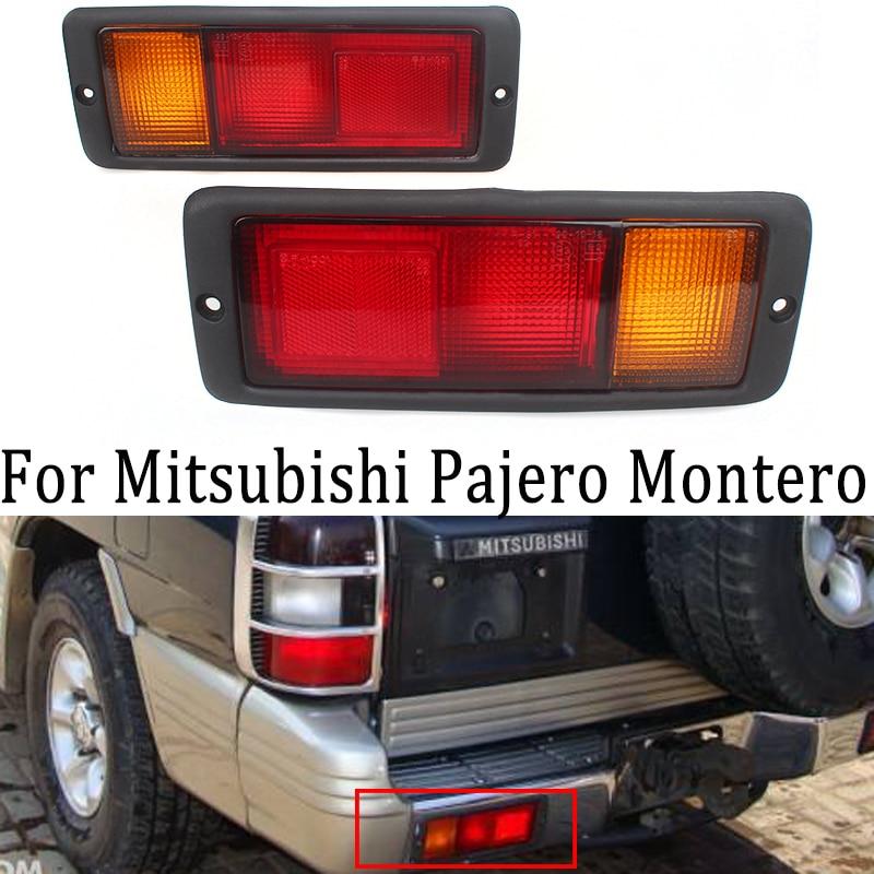 Mzorange 2 pces esquerda & direita traseira luz da cauda lâmpada mb124963 mb124964 214-1946l-ue 214-1946r-ue apto para mitsubishi pajero montero