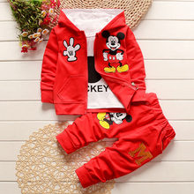 купить Spring Autumn Kids Outfits T-shirt+Pants 3pcs Tracksuit Toddler Boys Girls Clothing Sets Children Clothes Sport Suit F0017 онлайн