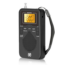 Universal Mini Radio Portable AM/FM Dual Band Stereo Pocket Radio Receiver with LCD 3.1 Inch Screen Display