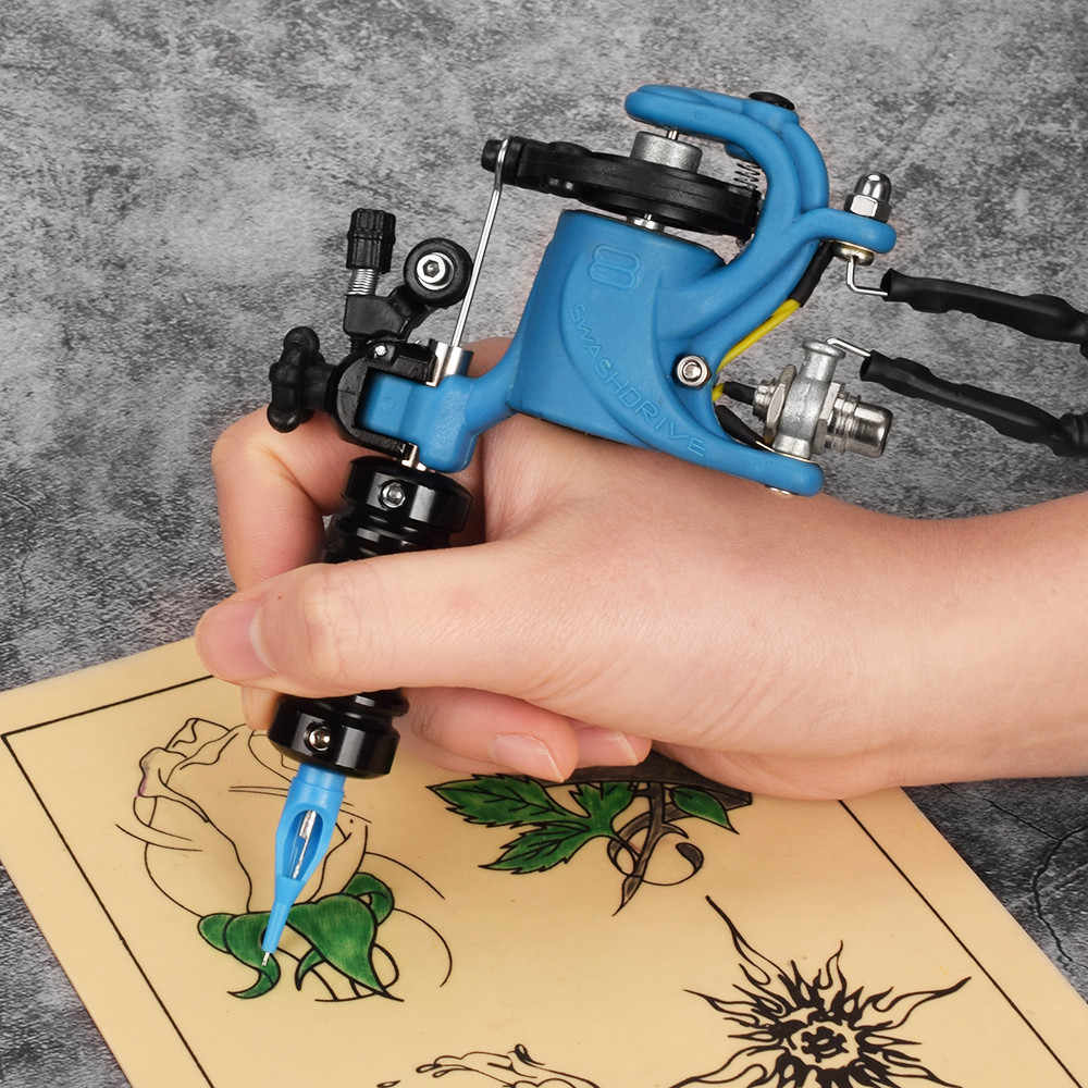 Blauwe Vogel Rotary Tattoo Machine Multifunctionele Professionele Motor Gun DIY Tattoo Microblading Machine Lichtgewicht Apparaat