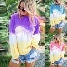 womens clothing Women Pregnant Nusring Maternity O-Neck Contrast Color Long Sleeve Top Pullover maternity clothes