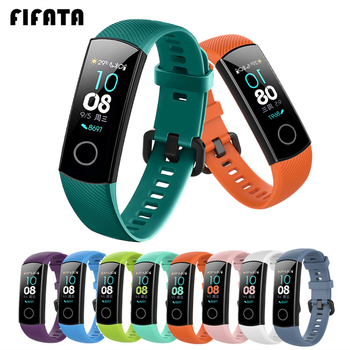 FIFATA Silicone Watch Strap For Honor Band 4 5 Wristbands Accessories Replacement Sport Strap For Huawei Honor Band 5 4 Bracelet 1