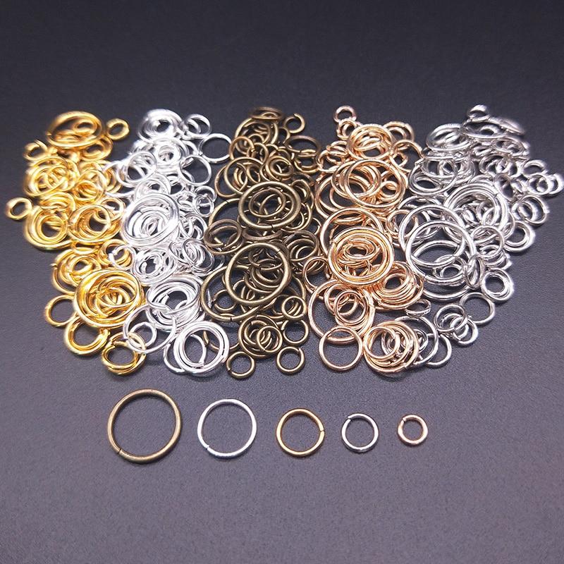 100Pcs 4/5/6/8/10mm Open Jump Rings Factory Wholesale Necklace Bracelet Earring Pendant Split Connectors DIY Making Accessories
