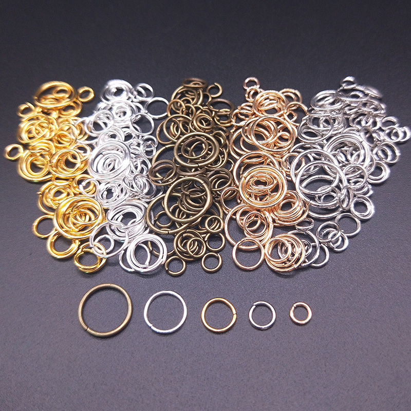 100Pcs 4/5/6/8/10mm Open Jump Rings Factory wholesale Necklace Bracelet Earring Pendant Split Connectors DIY Making Accessories