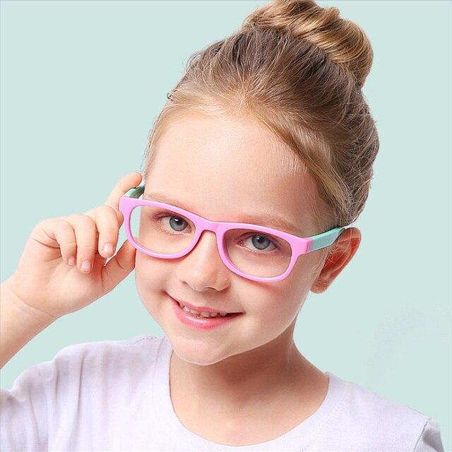 2020 blau Licht Gläser Kinder Mode Junge Mädchen Blocking Computer Klar Transparent Brillen Optische TR90 Rahmen UV400