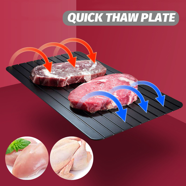 Fast Defrost Tray Fast Thaw Frozening Meat Fish Sea Food Quick Defrosting Plate Board Chopping Blocks Tray Kitchen Gadget Tool