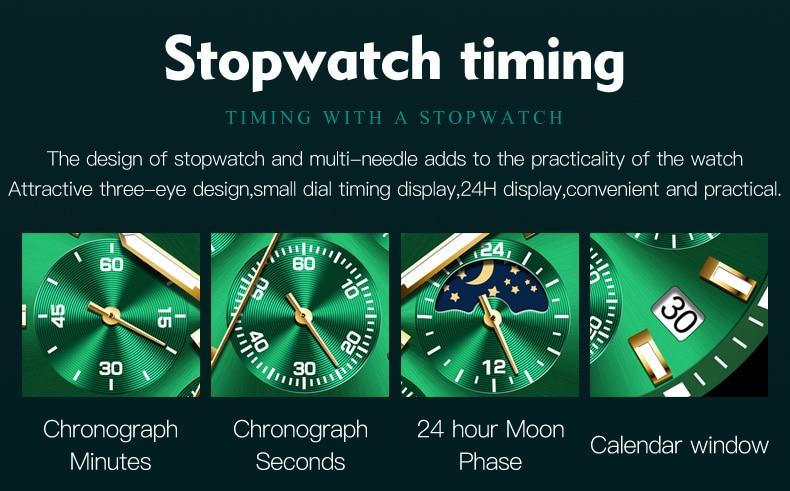 OLEVS 2870 Waterproof Stainless Steel Casual Watch 16