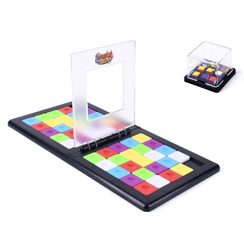 48 Color Digital Game Magic Block 3D Games Puzzles Square Race Square Board Kids Education Toy