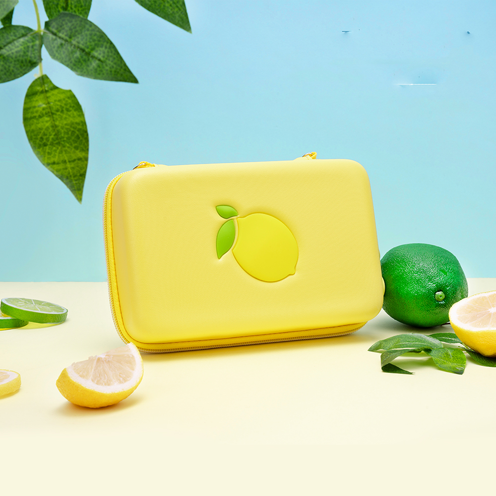 Portable Protective Bag For NINTENDO SWITCH Lemon Fresh Style Silicone Handbag For NS Switch Case For Switch Stand