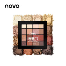 NOVO 16 Color Lazy Eye Shadow Palette Nude Matte shimmer Makeup Eyeshadow Palett
