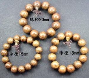 Image 4 - Groothandel Natuurlijke Sandelhout Vintage Mala Kralen Armbanden Boeddhistische Rozenkrans Gebed Yoga Meditatie Lucky Armband Voor Mannen Vrouwen