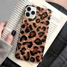 Funda de teléfono de silicona blanda de TPU a prueba de golpes para IPhone 11 Pro Xs Max X Xr 7 Plus 8 6S 6 frutas mármol leopardo