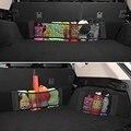 Черная нейлоновая упругая сумка-Органайзер для заднего сиденья автомобиля, несколько размеров