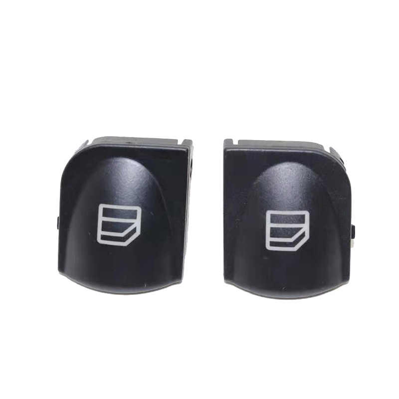 2 Pcs Window Switch Cover Voor Mercedes W203 C-CLASS Power Venster Knop Switch Console Cover Caps C320 C230 C240 C280
