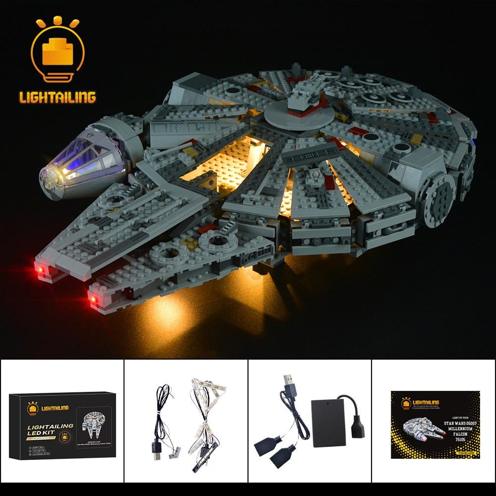 LIGHTAILING Kit d'éclairage LED pour 75105 Star War série millénium blocs de construction Falcon ensemble d'éclairage Compatible avec 05007