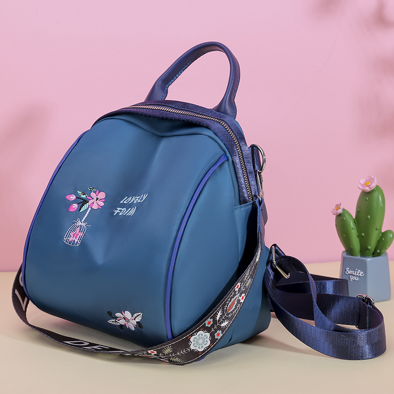 Embroidery Anti-theft Backpacks Oxford Cloth Shoulder Bags