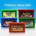 32 Bit Video Spiel Patrone Konsole Karte für Nintendo GBA Pokeon Smaragd FireRed LeafGreen Rubin Saphir Mit Glänzenden Label #5