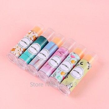 12/36/108 Packs PVC Label Colorful Lipstick Sticker Bird Dear Fish Flamingo Pink Star Forest Cat Empty Lipstick Tube Lip Balm