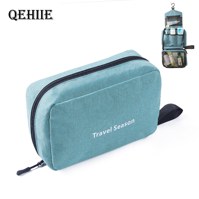 QEHIIE Travel-Toiletry-Bag Shower-Organizer Cosmetic-Bag Hanging Bathroom for Men And