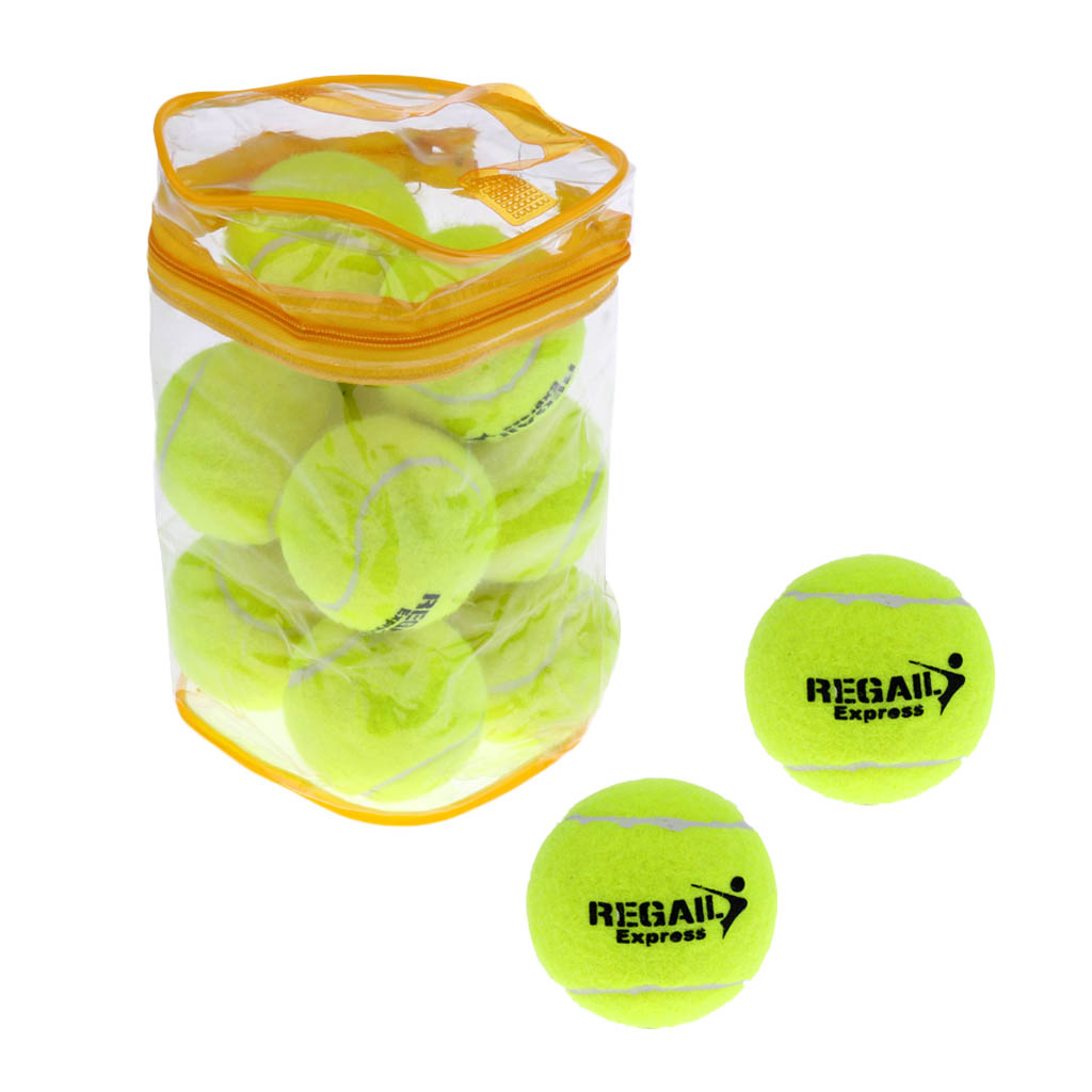 Pack of 12 High Elasticity Practice Tennis Balls with Carry Bag Pet Toy Ball Outdoor Sport Tournament Tennis Balls