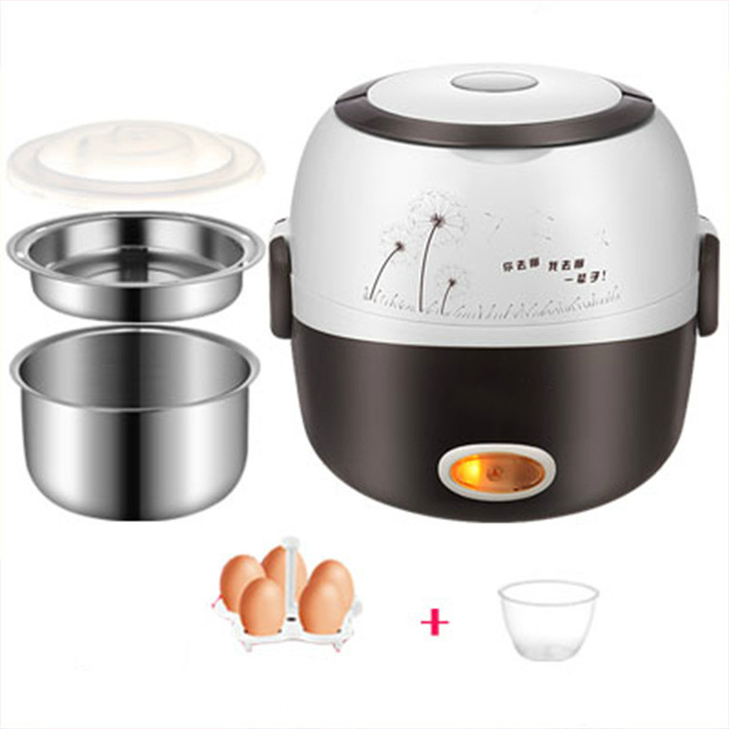 Rice Cooker Insulation Heating MINI Electric Lunch Box 2 Layers Portable Steamer Multifunction Automatic Food Container EU