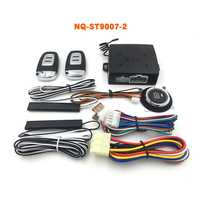 Owo Way Car Alarm System with Engine Start LCD Remote Control Key Fob Case For B9 with silicone cover NQ-ST9007