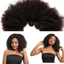 Mongolian Afro Kinky Curly Hair Human Hair Bundles 4B 4C Hair Weave Remy Natural Human Hair Extension CARA Products 1 amp 3 Bundles tanie tanio Remy Hair =20 CN(Origin) Mongolian Hair All Colors Permed Weaving Machine Double Weft 1 Bundle or 3 Bundles Options Kinky Curly Bundles