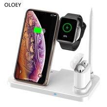 4 em 1 carregador de cartão de crédito sem fio para iphone apple iwatch 5 4 3 2 carregador móvel