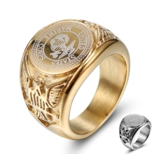 Stainless Steel Gold plated US Marine Corps Military Rings Badge Eagle United States Army Men's Signet finger Ring dropshipping the united states marine corps workout rev